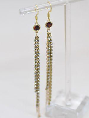 Lana Earrings - Ruby Red