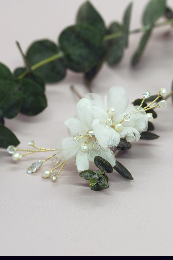 bridal hair pins, crystal flowers