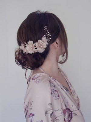 blush pink headpiece