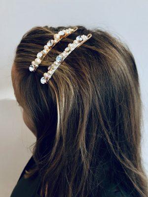 crystal hair barrettes
