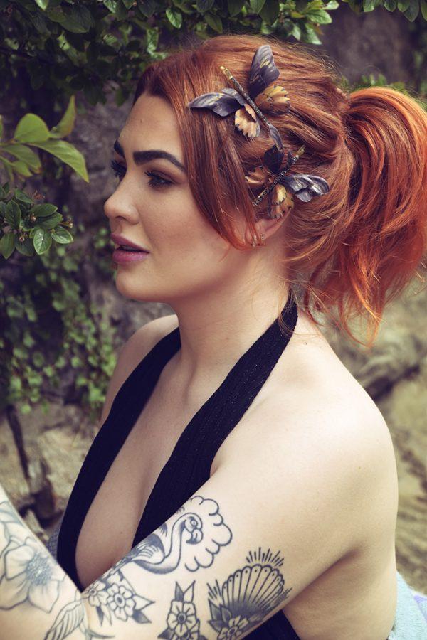 silk butterflyes hairpins