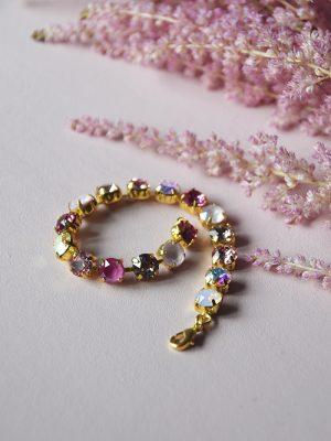 pink swarovski bracelet