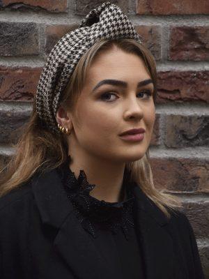 Ava - Houndstooth Turban Headband