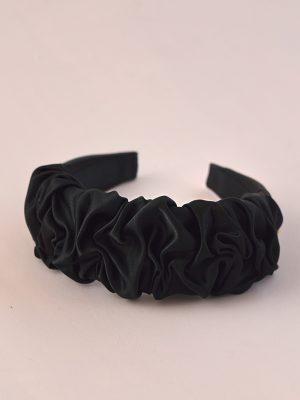 Jane - Leather Satin Ruffle Headband