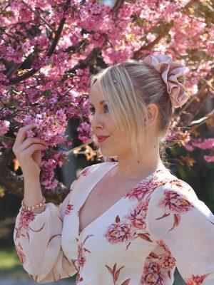 Blush Pink - Ruffle Scrunchie