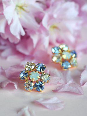 Blossom Earrings - Sapphire