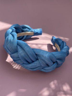 Chloe Braided Headband - Blue