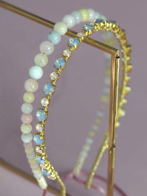 opal blue headband